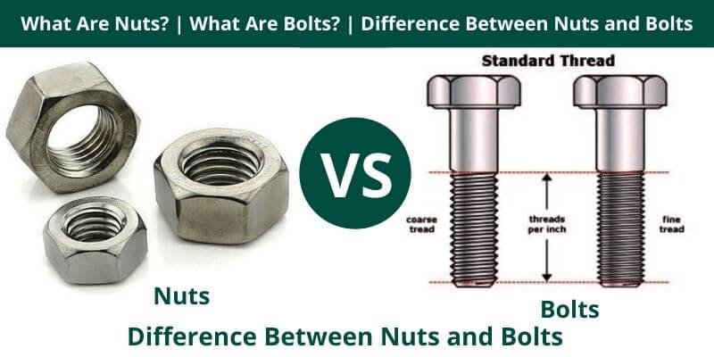 Difference Between Nuts and Bolts